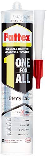 Pattex One for All Crystal Montagekleber / Extra stark haftender Alleskleber ohne Lösungsmittel - vereint Montagekleber und Silikon / 1 x 290g