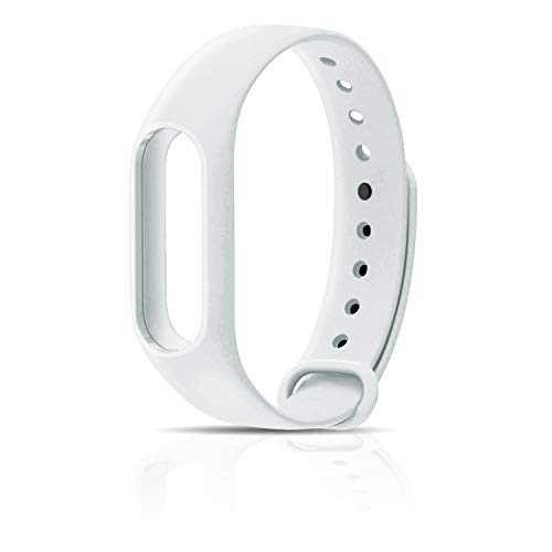 Recambio para Pulsera Actividad XIAOMI MI Band 2 SMARTWATCH MIBAND Correa Reloj (Blanco)