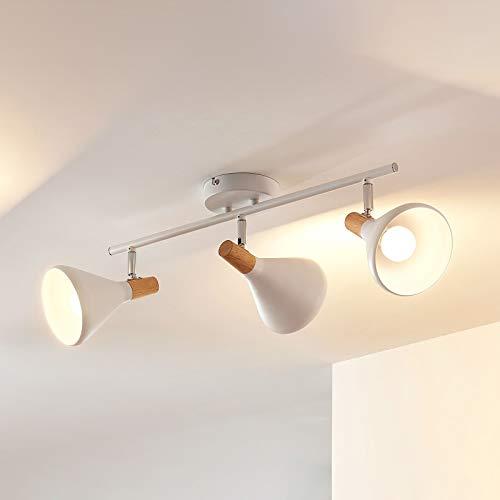 Lindby LED Deckenlampe 'Arina' (Modern) in Weiß aus Metall u.a. für Schlafzimmer (3 flammig, E14, A+, inkl. Leuchtmittel) - Deckenleuchte, Wandleuchte, Strahler, Spot, Lampe, Schlafzimmerleuchte