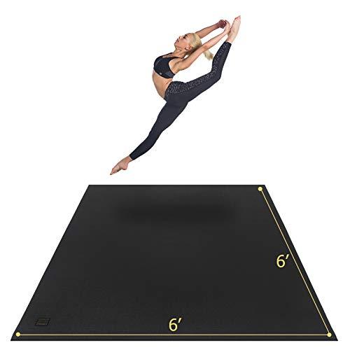 GXMMAT Esterilla de yoga grande de 183 x 183 x 0,7 cm para pilates, estiramiento, entrenamiento en casa, gimnasio, extra gruesa, antideslizante, antideslizante, uso sin zapatos