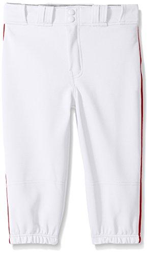 EASTON PRO+ KNICKER Baseball Pant   2020   Youth   Medium   White Red   Scotchgard Stain Release + Moisture Wicking