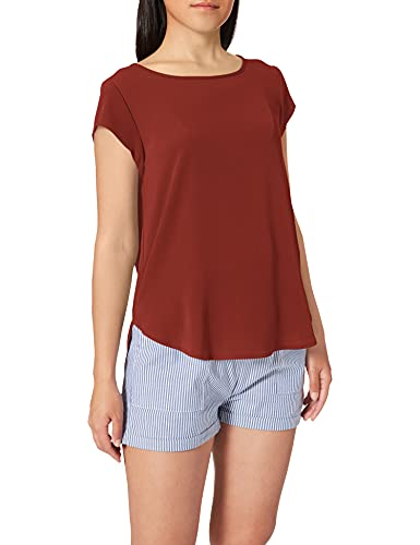 ONLY NOS Onlvic S/s Solid Top Noos Wvn, camiseta sin mangas Mujer, Rojo (Henna Henna), 42 (Talla fabricante: 42)