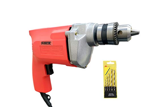 Cheston 10mm Powerful Drill Machine for Wall, Metal, Wood Drilling (5 Wall BITS Included)