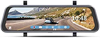 """BOYO VTR93M - Vehicle HD Backup Camera/DVR System with 9.35"""" Rear-View Mirror Monitor, Front and Rear-View Cameras for Car, Truck, SUV and Van"""