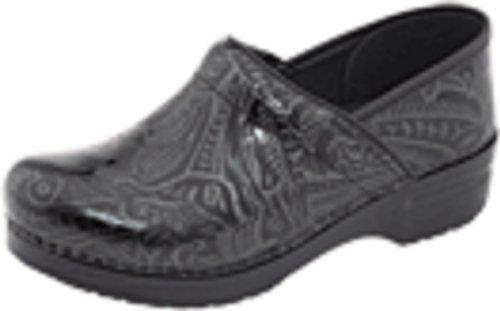 Dansko Women's Professional Black Tooled Clog 8.5-9 M US