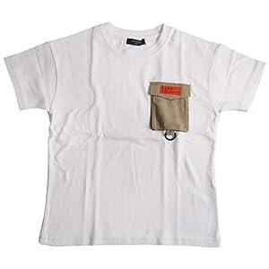 [グラソス] 厚手天竺・抗菌防臭加工 ドロップショルダー アウトドアポケット 半袖 Tシャツ ホワイト 3711215 キッズ ジュニア 130 ホワイト