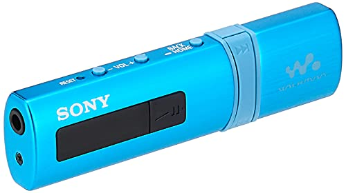 Sony NWZ-B183F Walkman 4GB Digital Music Player with FM, 20 hours of battery life (Blue)