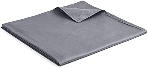 YnM Cotton Duvet Cover for Weighted Blankets (Dark Grey, 48''x72'')