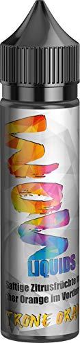 E-Zigarette E Liquid ohne Nikotin I 1 x 50ml I WOW LIQUIDS Vape Liquid 70 VG/30 PG für elektronische Zigaretten oder Shishas,Nikotinfrei I Made in Germany I Sucralosefrei (Zitrone Orange)