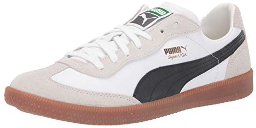 PUMA Super Liga OG Sneaker, White Black Team Gold, 9 M US