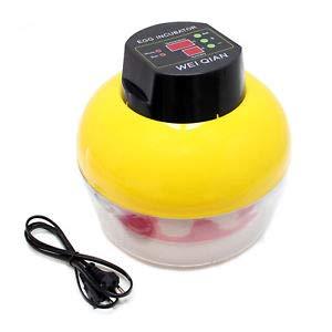 TM&W Plastic Automatic 8 Eggs Mini Incubator Poultry Equipment Chicken, Standard Size, Yellow (WQ-8)