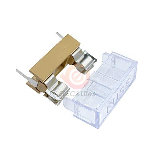 5 Unids/lote 5X20mm Portafusibles Montaje en Panel PCB Caja de Fusibles Soporte Seguro Tubo Enchufe 5 * 20Mm