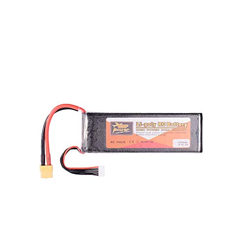 ZOP Power 14.8V 60C 5000mAh 4S Lipo Battery XT60 Plug Rechargeable for RC Racing Drone Quadcopter Helicopter Car Boat