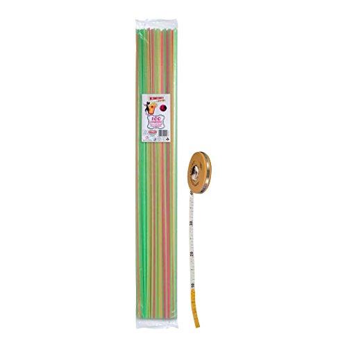 100 Cannucce - Cannucce 1 metro - Cannucce Fluorescenti - cannucce lunghissime - diam: 7mm - lungh: 1M