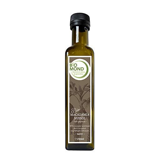 BIO Macadamianussöl Nussöl BIOMOND 250 ml / Nativ / aus der Macadamianuss / vegan