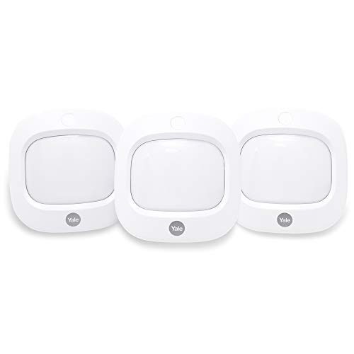 Yale AC-PETPIR Sync Smart Home Alarm Accessory PIR Motion Detector, Pack of 3, Pet Friendly, White, Motion Detectors, DIY Friendly, App Control