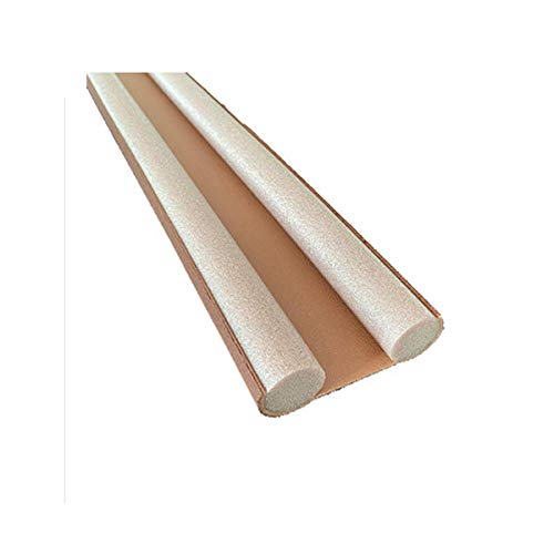 N / A Door Draft Stopper 1Ps Stopper Dust Flexible Door Noise Bottom Draft Reduction Sound Weatherstrip Window Sealing Blocker 93Cm Strip Proof Sealer-Brown