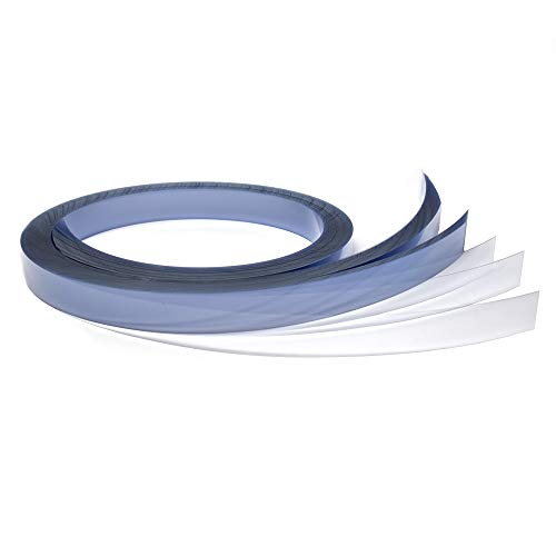 Gondola Shelving Pre Cut Vinyl Insert Strips for Ticket Channel, 48' x 1.25' H, Clear, 100 Pack