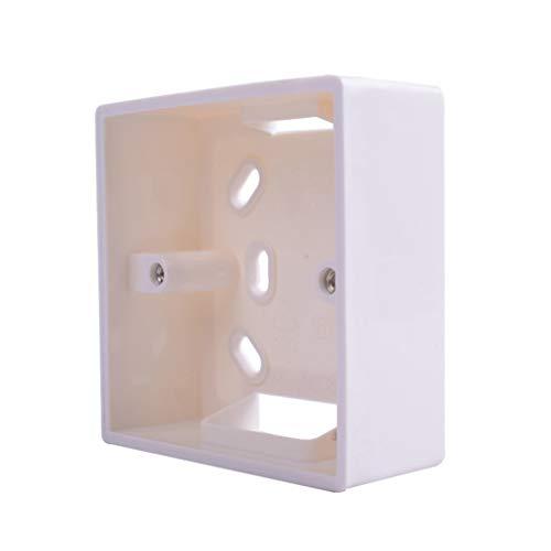 Mengonee Montaje Externo reemplazo Caja de interruptores estándar 86mmx86mm y Hembra Aplicar Cualquier posición de Superficie de la Pared