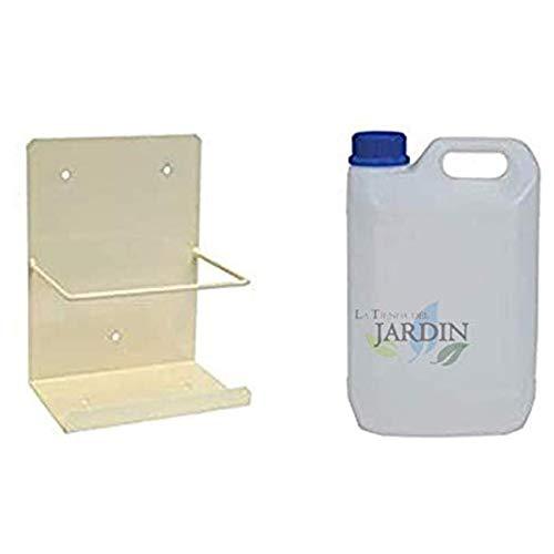 Pack bidón garrafa de plástico para condensados diez litros + Soporte pared