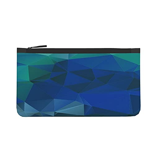 Portamonete in tela geometrica a basso contenuto di poligoni con portamonete portamonete con cerniera per monete, carte prepagate