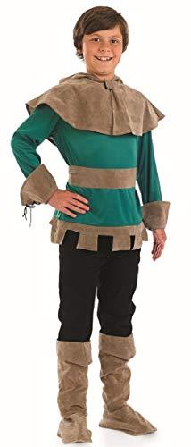Fancy Me Garçons Médiéval Robin des Bois Héros Villain Journée Mondiale du Livre Historique TV Film Character Costume Déguisement - Vert, 4-6 Years