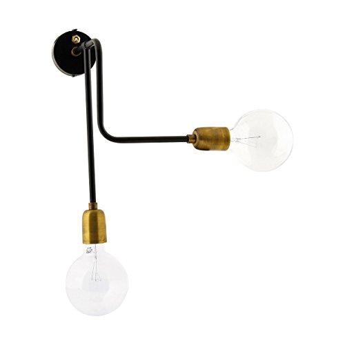 House Doctor Molecular - Lámpara de pared, color negro y latón