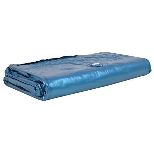 Nishore Einzel-Wasserbettmatratze | Wasserkern für Wasserbetten | Softside Wasserbett Matratze | 220 x 100 cm (L x B) Blau
