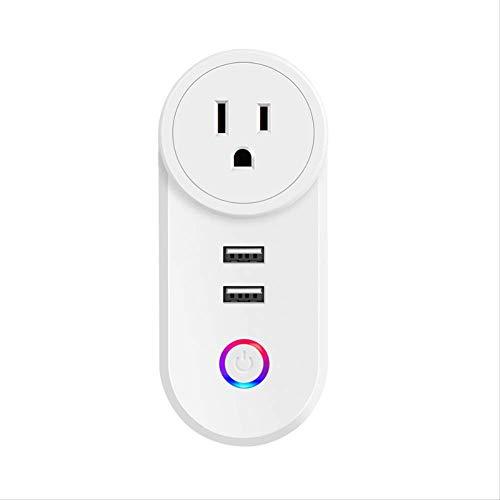 WiFi Smart Fireproof Dual USB mini draadloos stopcontact draadloos Brits standaard wit