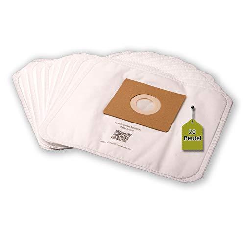 eVendix Staubsaugerbeutel kompatibel mit Silva BS 18-100, 20 Staubbeutel + 2 Mikro-Filter, kompatibel mit Staubsaugerbeutel Swirl Y05/Y45
