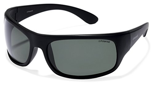 Polaroid 7886 - Gafas de sol rectangulares unisex, color negro (black), talla...
