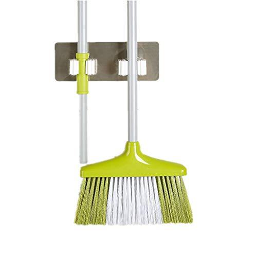 Best Review Of Forthery Mop and Broom Holder,Wall Mounted Mop Organizer Holder Brush Broom Hanger St...