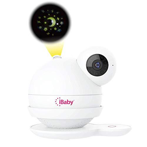 iBaby Smart WiFi Baby Monitor M7 Pflegekit (M7 + Wandhalterung), 1080P Full HD-Kamera, Temperatur- und Feuchtigkeitssensoren, Bewegungs- und Schreiwarnungen, Mondscheinprojektor, mit Smartphone-App