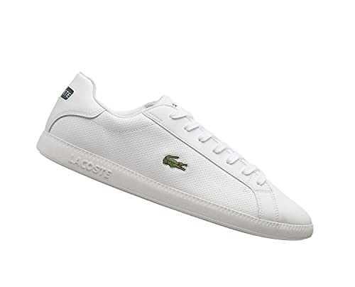 Lacoste Graduate 0721 2 SMA - Zapatillas bajas para hombre, color Blanco, talla 42 EU