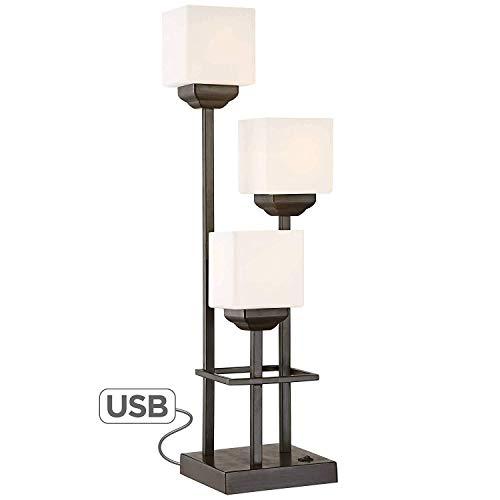 DAHAI USB Schreibtischlampe, 3-Licht Tischlampe Mit USB-Lade Ports, LED-Laterne Beleuchtung Nachtlampe, Geeignet For Schlafzimmer, Esszimmer, Wohnzimmer, Glaswasc