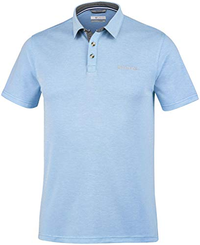 Columbia Nelson Point Poloshirt Homme, Blue Sky, FR : XL (Taille Fabricant : 5X)