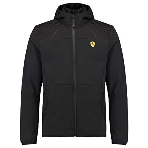 Scuderia Ferrari Formula 1 Men's 2018 Black Softshell, Black, Size X-Large