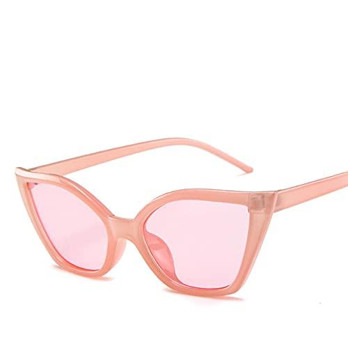 Secuos Moda Gafas De Sol Retro con Forma De Ojo De Gato para Mujer, con Montura Grande, Espejo Uv400, Gafas De Sol, Diseñador De Marca, Rosa Vintage