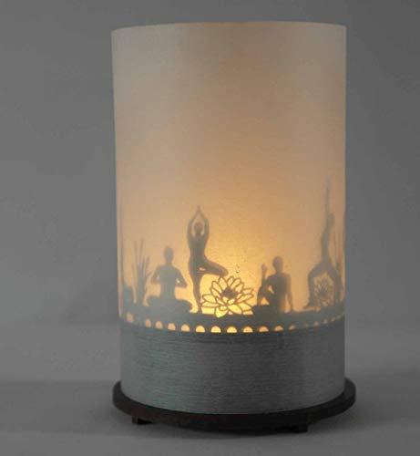 13gramm Yoga Windlicht Schattenspiel Premium Geschenk-Box, inkl. Kerzenhalter, Kerze, Projektionsschirm und Teelicht