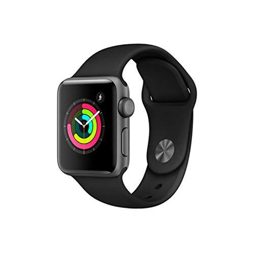 Apple Watch Series 3, 38 Mm, Alumínio Cinza Espacial, Pulseira Esportiva Preto e Fecho Clássico, Mqkv2Bz/A