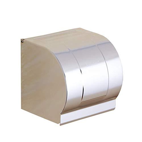 CHUTD Toilettenpapierhalter Wasserdicht Wandeinbau Raum Aluminium Drahtziehen Finish Mit Deckel Rostfrei Badezimmer Toilettenpapier Vorratsbehälter