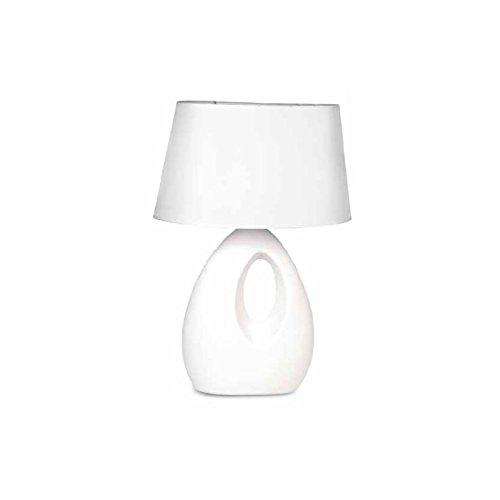 HOMEGARDEN Lampada da Tavolo Moderno lume in Ceramica Rosso Comodino 39x58