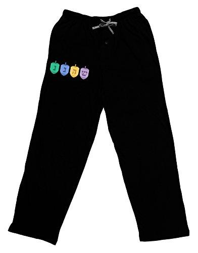 TOOLOUD Hanukkah Dreidels Adult Lounge Pants - Black- 2XL
