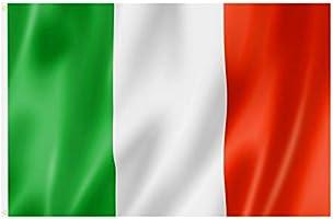 Grande Bandiera Italiana con Anelli 90 x 150 cm, stendardo da Appendere per la Coppa del Mondo, Il Campionato Europeo,...