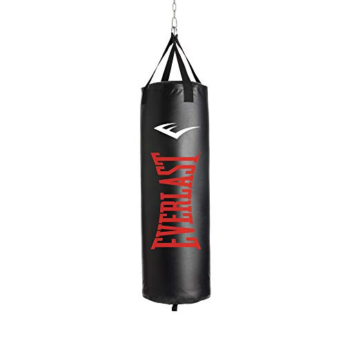 Everlast P00001263 70LB Heavy Bag Heavy Punching Bags, Black/Red,