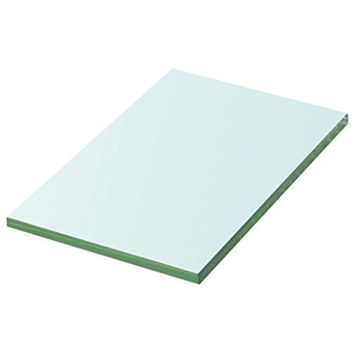 vidaXL Glasboden Glasscheibe Glasplatte für Glasregal Transparent 20 cm x 12 cm