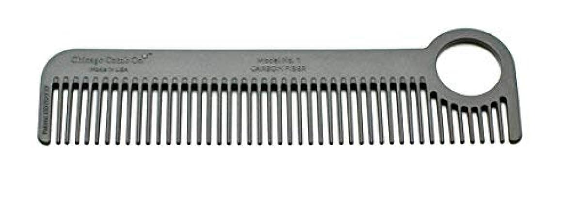 ガード農学ファブリックChicago Comb Model 1 Carbon Fiber, Made in USA, ultra smooth, strong, and light, anti-static, heat-resistant, 5.5 inches (14 cm) long, ultimate daily use, pocket, and travel comb [並行輸入品]