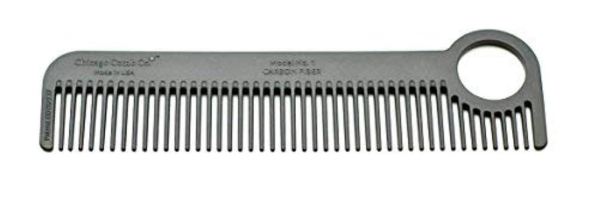 削除するの慈悲で葉を集めるChicago Comb Model 1 Carbon Fiber, Made in USA, ultra smooth, strong, and light, anti-static, heat-resistant, 5.5 inches (14 cm) long, ultimate daily use, pocket, and travel comb [並行輸入品]