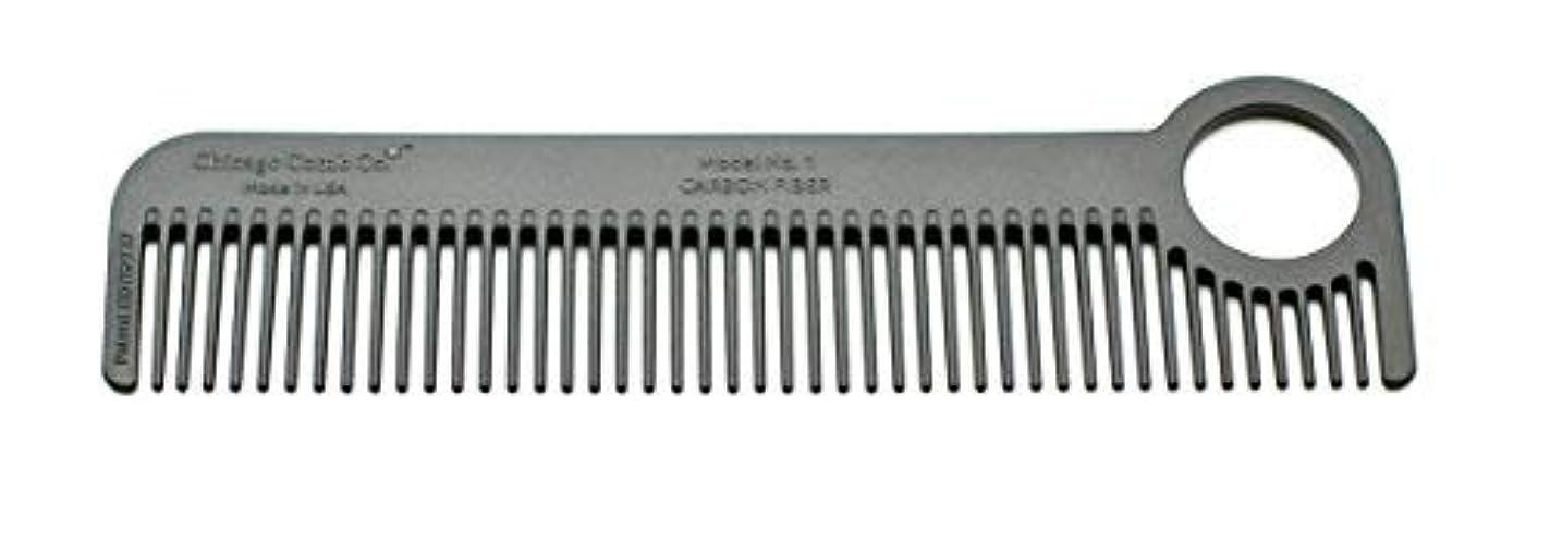 病な従来の速報Chicago Comb Model 1 Carbon Fiber, Made in USA, ultra smooth, strong, and light, anti-static, heat-resistant, 5.5 inches (14 cm) long, ultimate daily use, pocket, and travel comb [並行輸入品]