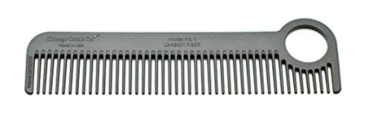 ハドル敵意マグChicago Comb Model 1 Carbon Fiber, Made in USA, ultra smooth, strong, and light, anti-static, heat-resistant, 5.5 inches (14 cm) long, ultimate daily use, pocket, and travel comb [並行輸入品]